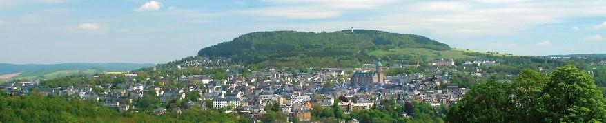 Sicht von Wiesenbad auf Annaberg